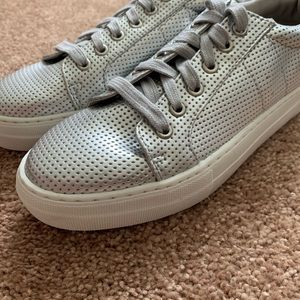Silver color creeper sneakers